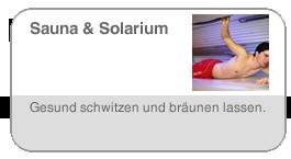 Sauna & Solarium